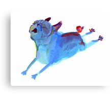 Blue Leaper Canvas Print
