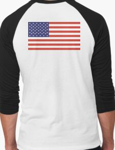 Stars and Stripes, Pure & Simple, American Flag, American, America, USA Men's Baseball ¾ T-Shirt
