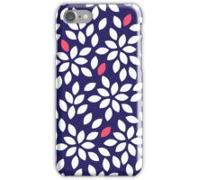 Seeds in blue and white colors abstract seamless pattern iPhone Case/Skin