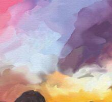 'Strange Shore' - Watercolor Rocky Seashore Sticker