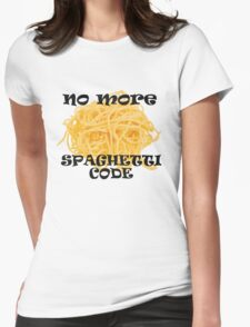 Spaghetti Code Womens Fitted T-Shirt