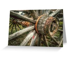 Old West Wagon Wheel Greeting Card