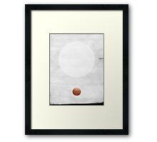 white & copper Framed Print