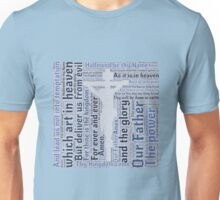 Lord's Prayer - English - Blue Unisex T-Shirt