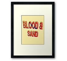 Blood & Sand, Spartacus, Gladiators, Coliseum, Combat, Death Framed Print