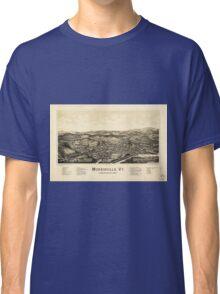 Bird's Eye View Map Morrisville Vermont (1889) Classic T-Shirt