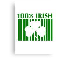 100% Irish St. Patricks Day Canvas Print