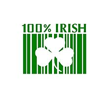 100% Irish St. Patricks Day Photographic Print
