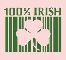 100% Irish St. Patricks Day One Piece - Short Sleeve