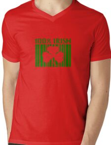 100% Irish St. Patricks Day Mens V-Neck T-Shirt