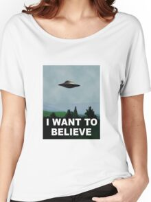 I want to believe x files Women's Relaxed Fit T-Shirt