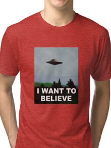 I want to believe x files Tri-blend T-Shirt