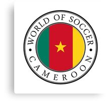 Cameroon soccer world Canvas Print