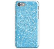 Birmingham map blue iPhone Case/Skin