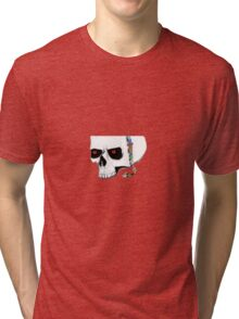 Skull and jewelry Tri-blend T-Shirt