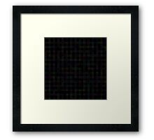 Geometric black pattern Framed Print