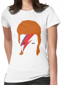 BOWIE FACE Womens Fitted T-Shirt