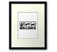Mallorca party Framed Print