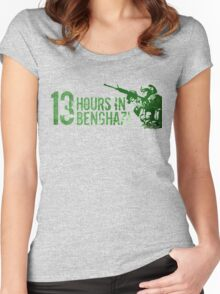 13 hours the secret soldiers of benghazi Women's Fitted Scoop T-Shirt