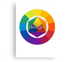 Design Colour Wheel Canvas Print