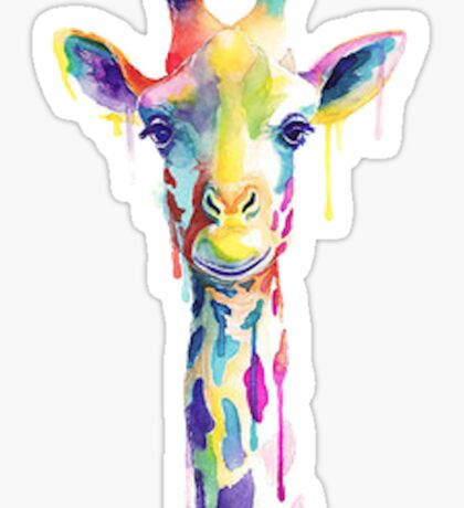 Tumblr Rainbow Giraffe Sticker