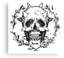 Chloe Price - Human Skull Canvas Print