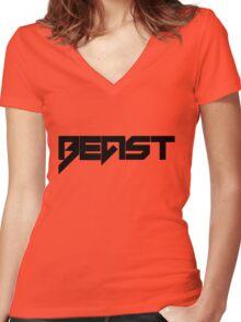 Beast - version 1 - Black Women's Fitted V-Neck T-Shirt