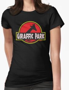 Giraffic Park Womens Fitted T-Shirt