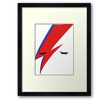 BOWIE CLOSE UP Framed Print