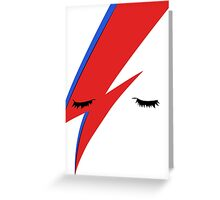 BOWIE CLOSE UP Greeting Card