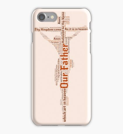 Lord's Prayer - Orange/Pink iPhone Case/Skin