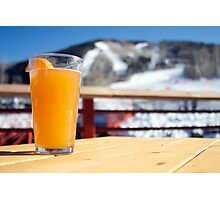 Beer on the Slopes Photographic Print