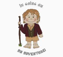 Bilbo Baggins going on an adventure! Kids Tee