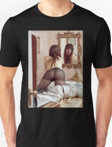 Longing - sexy erotic nude perfect girl fantasy love romance hot kinky proud fun awesome cute T-Shirt