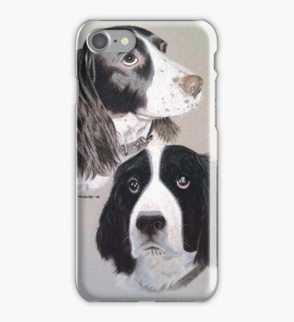 Daisy and Teddi the beautiful English Springer Spaniels  iPhone Case/Skin