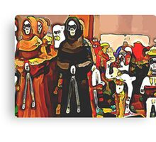 'Procession of the Dead' - Skeleton Ceremony Canvas Print