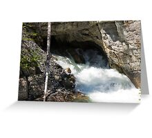 The Rush of the River 3 Greeting Card