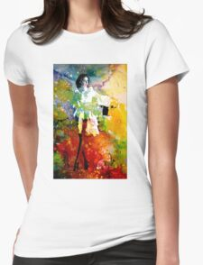 HAT TRICK ANYONE? Womens Fitted T-Shirt