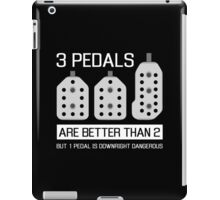 3 pedals are better than 2, but 1 pedal is downright dangerous (stick shift) iPad Case/Skin