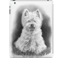 West Highland White Terrier, Westie Dog, Pencil Drawing iPad Case/Skin