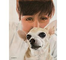 Max the adorable Chihuahua Photographic Print