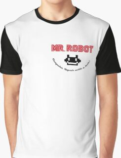 Mr. Robot logo Graphic T-Shirt