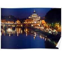 Saint Peter Cathedral in Rome Poster