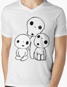 Princess Mononoke Kodama Mens V-Neck T-Shirt