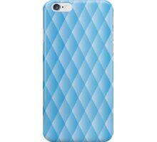 Geometric blue pixel pattern iPhone Case/Skin