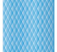 Geometric blue pixel pattern Photographic Print