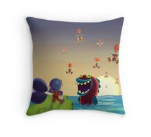 Balloon Trip Throw Pillow