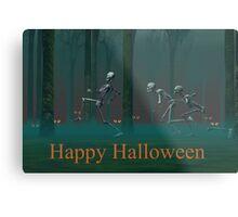 A Skeleton Halloween Metal Print