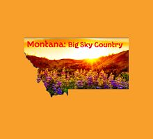 Montana Map with State Nickname:  The Big Sky State Unisex T-Shirt