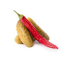 Pickles and hot red pepper Photographic Print